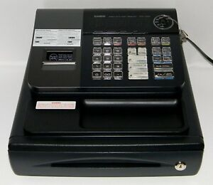 Casio Electronic Cash Register Pcr t280 Black W 6 Keys Tested Free Ship