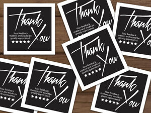 Thank You 5 Star Stickers Ebay Shipping Labels Black White Customizable 20 1000