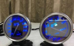 Blitz Mirror Boost Turbo Water Temp Gauge Jdm Nissan Skyline Gtr Impreza Wrx Sti