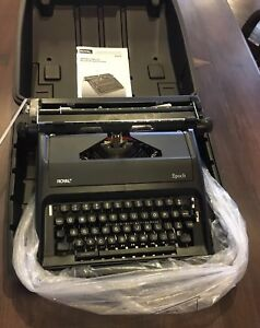 Royal Epoch Portable Manual Typewriter In Case new