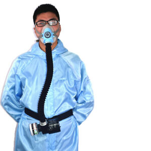 Pro Electric Constant Flow Supplied Air Fed Half Face Gas Mask Respirator System