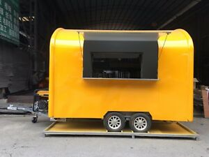 New 3m Concession Stand Trailer Kitchen 5 Kw Generator Shipped By Sea