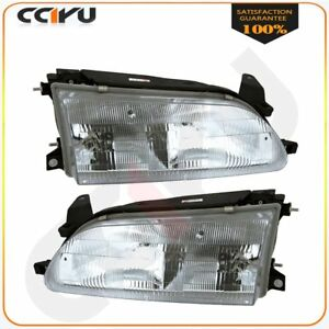 20 1745 00 20 1744 00 Pair Headlights Assembly For 1993 1997 Toyota Corolla