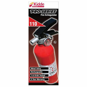 Kidde Pro Series 110 Consumer Dry Chemical Fire Extinguisher can Be Recharged