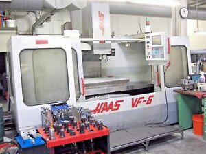Haas Vf 6 Cnc Vertical Machining Center Mill 4 Axis Cat 40 Taper 7500 Gearbox