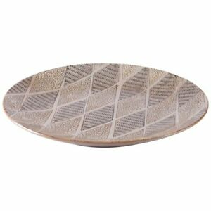 Zuo Ikat Plate In Brown