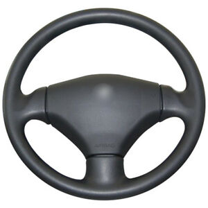 1 Diy Black Leather Car Steering Wheel Cover For Peugeot 206 2003 2006 Zyswc