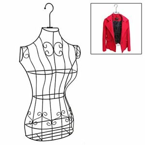 Women Dress Form Mannequin Metal Wire Frame Hanging Hook Clothing Display Hanger