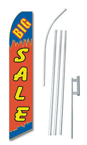 Big Sale R b Tall Advertising Banner Flag Complete Sign Kit 2 5 Feet Wide