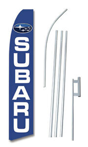 Subaru Tall Advertising Banner Flag Complete Sign Kit 2 5 Feet Wide