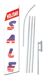 Sale Holiday Tall Advertising Banner Flag Complete Sign Kit 2 5 Feet Wide