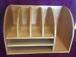 Office Desk Organizer Solid Wood Table File Shelves Storage Birch Plywood