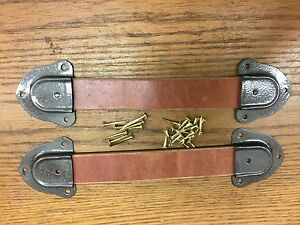 Antique Trunk Hardware Leather Handles Ends And Nails For Trunks