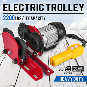 1t 2200lbs Capacity Electric Trolley Weight Lifting Localfast 1 2m 4ft Cable