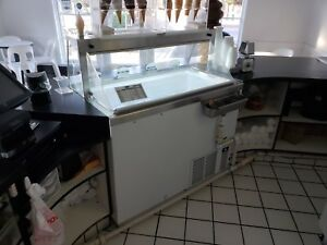 Kdc 47 Ice Cream Dipping Freezer Cabinet 8 Facing With Dipper Well