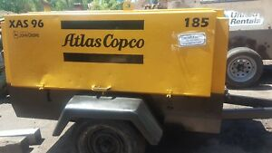 Air Compressor 185 Cfm Atlas Copco Towable Ingersoll Diesel