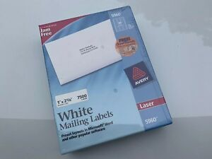 Avery 5160 Easy Peel Address Labels 1 Width X 2 62 Length 30 Per Page Lgbox