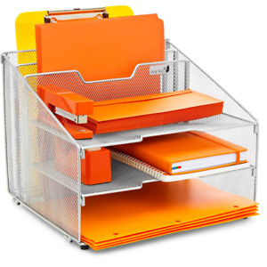 Desk Organizer File Folder Holder All in one With Non slip Rubber Feet