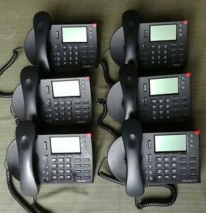 Lot Of 6 Shoretel Ip 230 3 line Business Phone With Handset Stand
