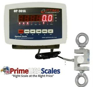 Optima Scales Op 926 3000 Digital Hanging Scale With High Precision Load Cell