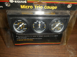 New Equus 1 1 2 Mini Triple Mechanical Gauge Set Water Temp Oil