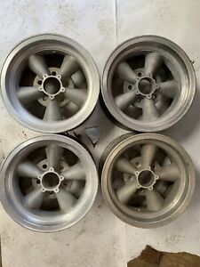 Torque Thrust Style Vintage Mag Wheels Rims 14x7 Keystone Chevy Gm Camaro J14968