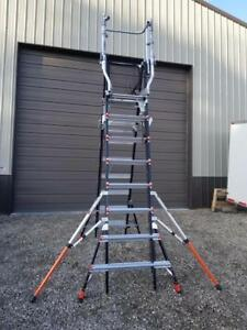 Pick Up Only Little Giant 18515 Safety Cage 8 14 1aa 375lb Adjustable Ladder