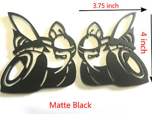 2x Matte Black Challenger Charger Scat Pack Racing Emblem Badges Large For Dodge