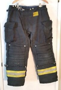 Morning Pride Nomex Firefighter Turnout Gear Bunker Pants Black 38x30 2006