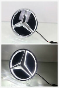 2011 2018mercedes Benz Led White Light Blled Grill Star Logo Badge Emblem Mirror