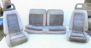 1985 1986 Mustang Gt Hatchback Front Recaro Bucket Seats With Std Rear Seat