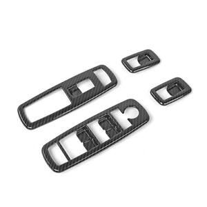 Real Carbon Fiber Window Switch Panel Cover Trim For Jeep Grand Cherokee 2014 18