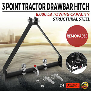 3 Point Bx Trailer Hitch Compact Tractor Universal Kubota Structural Steel