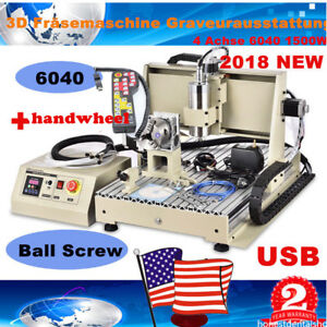 Usb 1500w Vfd 4 Axis 6040 Cnc Router Engraver Drilling Machine Hand Controller