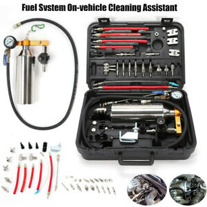 Non Dismantle Cleaner Auto Fuel Injector Cleaner W Adapter Kit Cleaning Tool Us