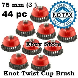 44 Wire Cup Brush Wheel 3 75mm For 4 1 2 115mm Angle Grinder Twist Knot
