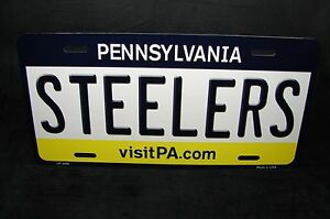 Steelers Pennsylvania State Metal Novelty Car License Plate Tag