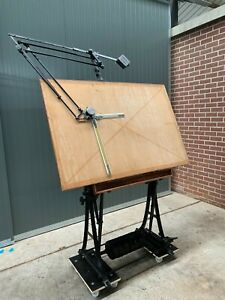 Vintage Antique Drafting Table Mid 20th Century Germany