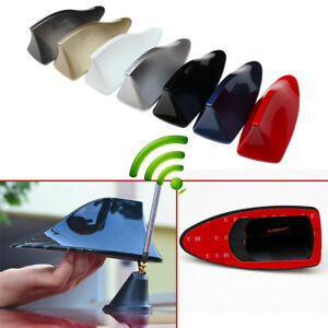 Shark Fins Car Roof Signal Radio Fm Am Enhance Antenna Aerial Amplifier Booster