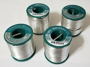 4lbs Canfield 100 Watersafe Lead Free 125inch Dia Silver Solder Spools 85310