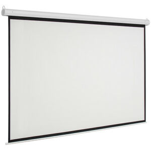 92 16 9 Electric 80 X 45 Motorized Projector Screen With Remote Control White