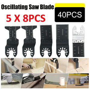 40pc Multi Tool Oscillating Saw Blade For Fein Bosch Multimaster Makita Dewalt S