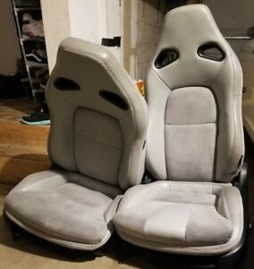 Nissan Gt R Gray Leather Seats Front Rear 2009