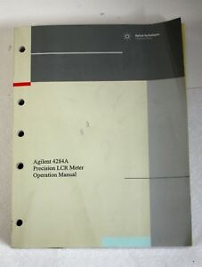 Hp Agilent 04284 90040 Precision Lcr Meter Operation Manual For 4284a Jan 2000