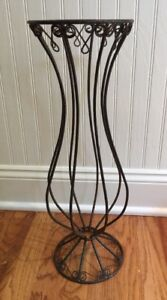 French Wire Metal Tall Urn Vase Candle Holder Rusty Nice