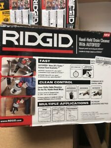 Ridgid Hand held Drain Cleaner With Autofeed model K 45af Brand New