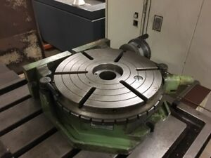 12 Enco Combination Horizontal Vertical Rotary Table Made In Spain