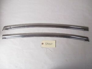 1959 1960 Oldsmobile Chevy Gm 4 D Sedan Rear Door Window Stainless L