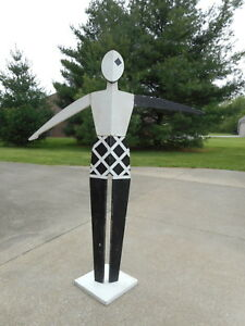 Vintage Antique Mannequin Art Deco Style Store Display Life Size Wood Used Old
