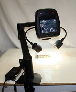 Roi Ram Optical Hi eye Video Microscope 122mm Lens W Stand Lights Speck227